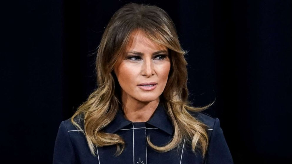 First lady Melania Trump calls for peaceful protests, doesn't mention underlying causes thumbnail