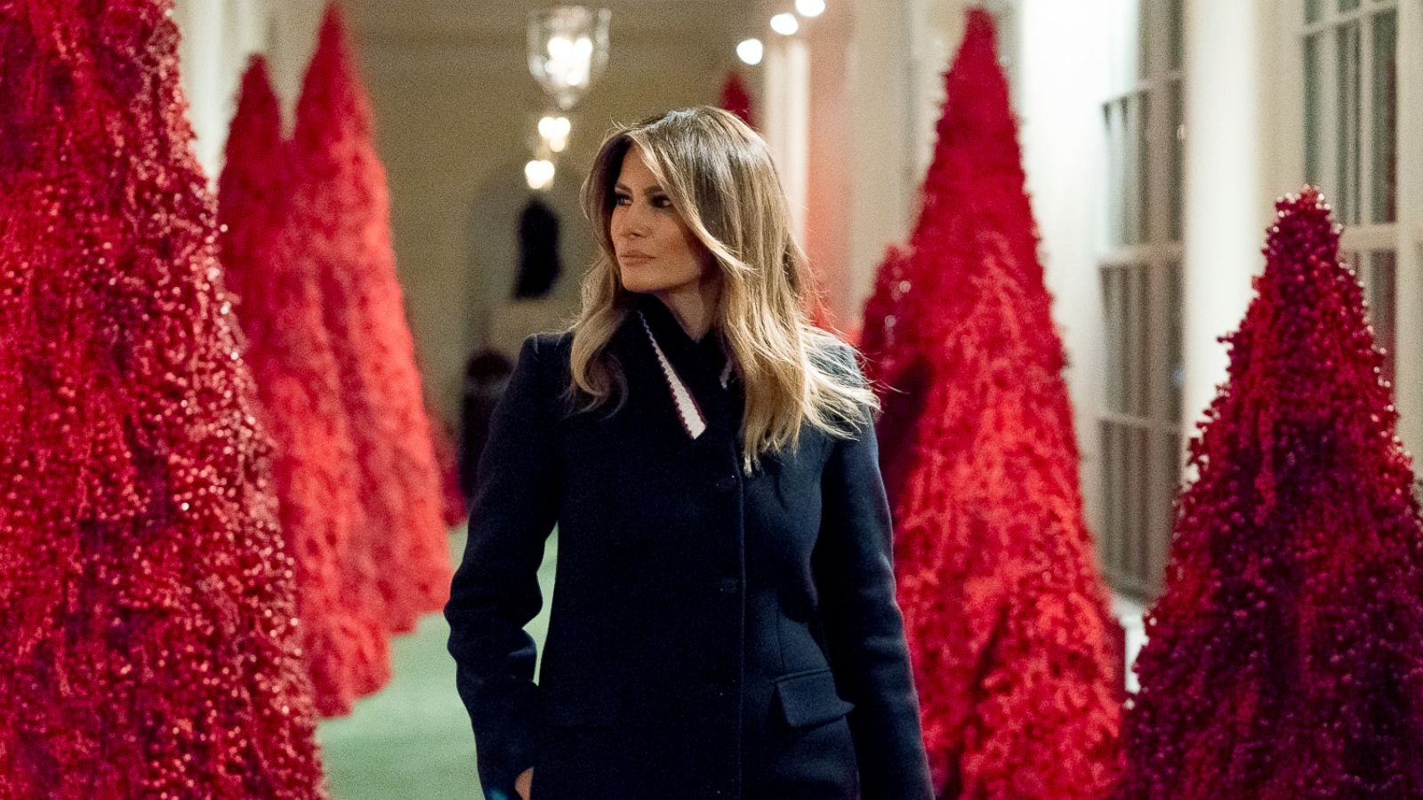 White House Christmas 2020 Handmaids After 'The Handmaid's Tale' references, Melania Trump defends her