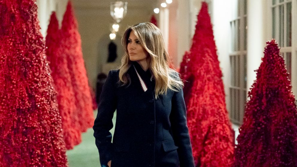 2020 White House Christmas Handsmaids Tale After 'The Handmaid's Tale' references, Melania Trump defends her
