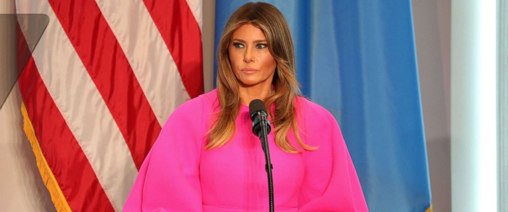 PHOTO: First lady Melania Trump speaks at the United Nations, Sept. 20, 2017.