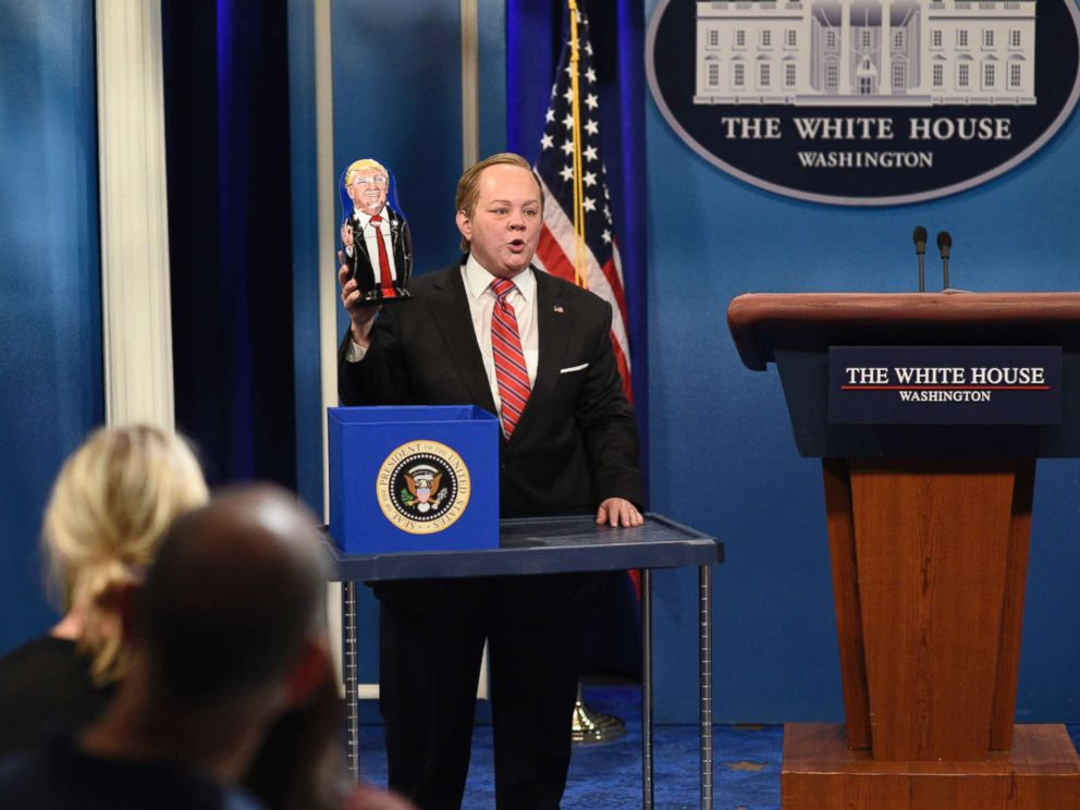 PHOTO: Melissa McCarthy portrays White House Press Secretary Sean Spicer on Saturday Night Live in New York on May 13, 2017