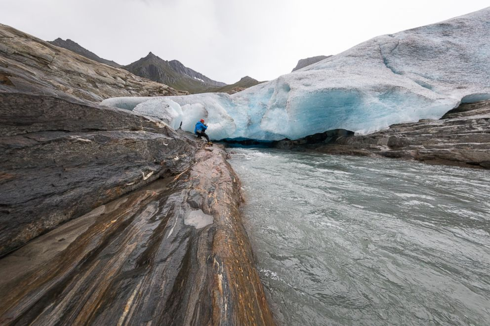 PHOTO: A melting glacier is pictured in this undated stock photo.