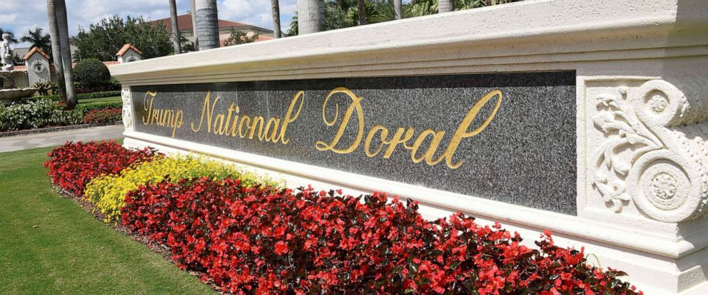 PHOTO: In this April 3, 2018, file photo, a view leading into Trump National Doral is seen in Miami, Fla.