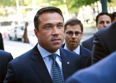 PHOTO: Former Rep. Michael Grimm arrives ahead of his sentencing for aiding in filing a false tax return, at federal court in the Brooklyn borough of New York, on July 17, 2015.