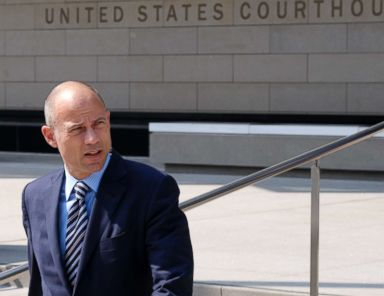 PHOTO: Michael Avenatti, the attorney for porn actress Stormy Daniels walks out of the U.S. Federal Courthouse prior to a news conference in Los Angeles, July 27, 2018.