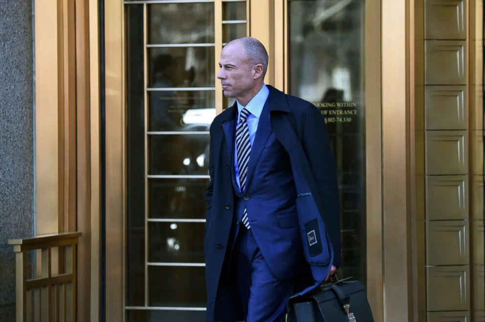 PHOTO: Attorney for Stormy Daniels, Michael Avenatti walks outside the U.S. Courthouse in New York, April 26, 2018.