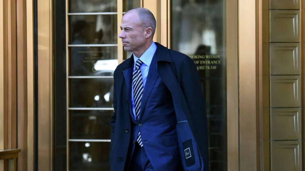 Attorney for Stormy Daniels, Michael Avenatti walks outside the U.S. Courthouse in New York, April 26, 2018.