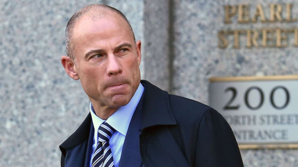 Michael Avenatti, the attorney for Stormy Daniels, walks outside the federal courthouse in New York on April 26, 2018.