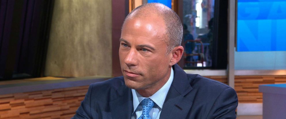 "PHOTO: Stormy Daniels lawyer, Michael Aventatti speaks to""Good Morning America,"" March 13, 2018."