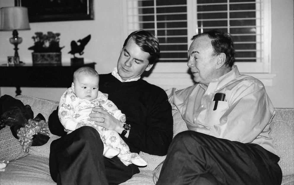 PHOTO: Sen. Michael Bennet with his father in an undated photo.