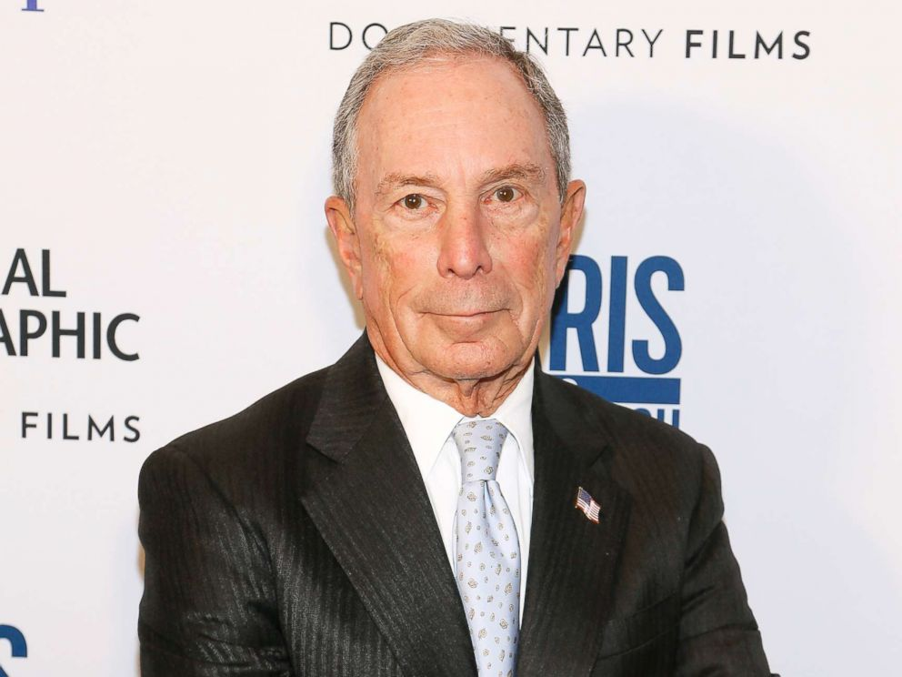 PHOTO: Michael Bloomberg attends the Paris to Pittsburgh film screening hosted by Bloomberg Philanthropies and National Geographic at National Geographic Headquarters, Feb. 13, 2019 in Washington, DC.