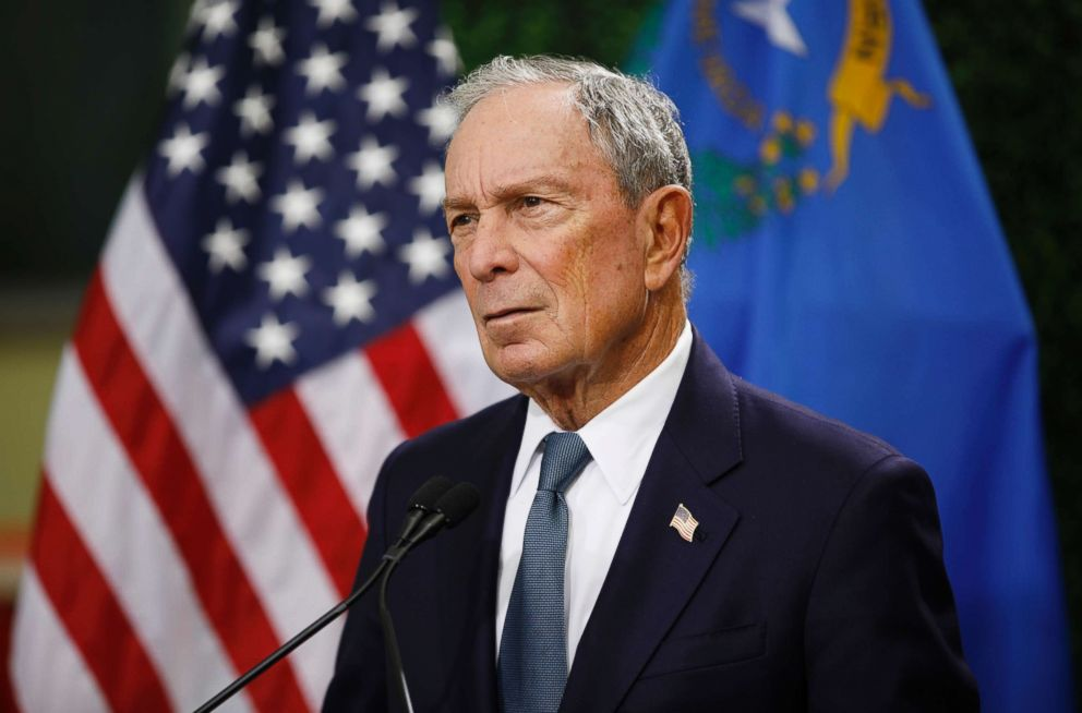 PHOTO: Former New York City mayor Michael Bloomberg speaks at a news conference at a gun control advocacy event, Feb. 26, 2019, in Las Vegas.