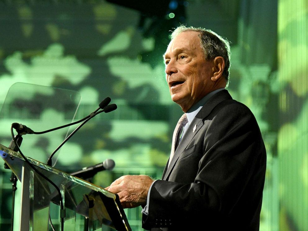PHOTO: Michael Bloomberg speaks onstage during the Hudson River Park Annual Gala at Cipriani South Street, Oct. 17, 2019, in New York City.