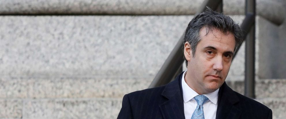 PHOTO: Michael Cohen exits Federal Court after entering a guilty plea in New York City, Nov. 29, 2018.