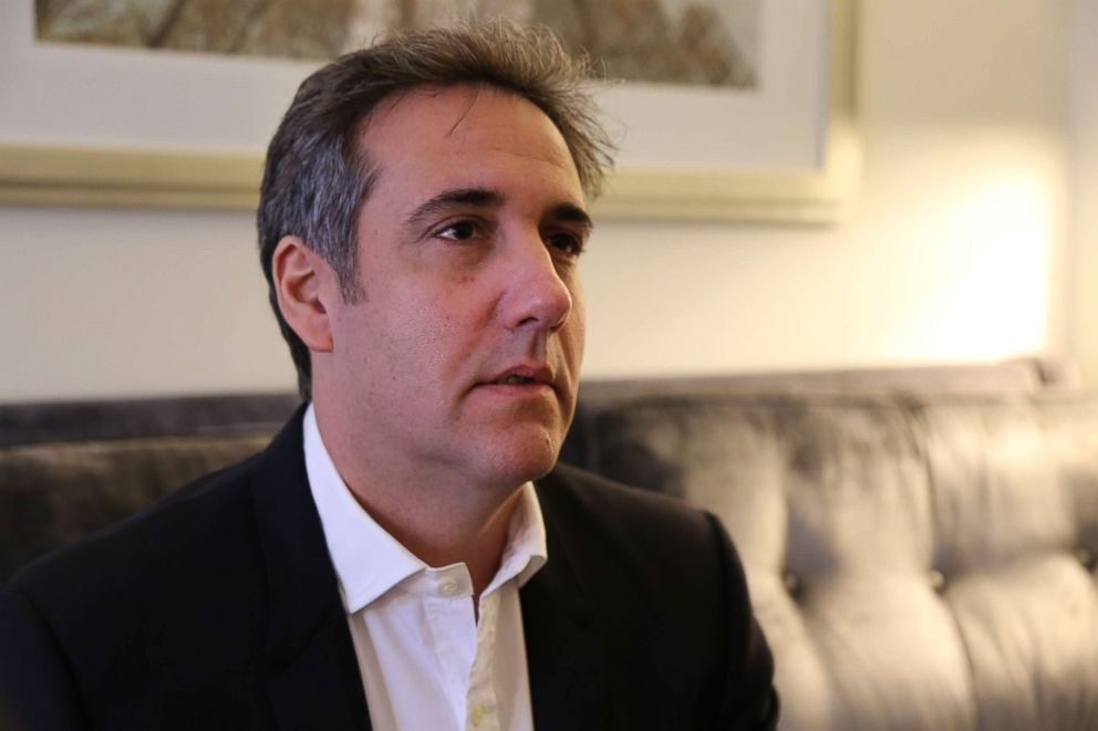ABC News George Stephanopoulos interviewing Michael Cohen, who was formerly an attorney for President Donald Trump.