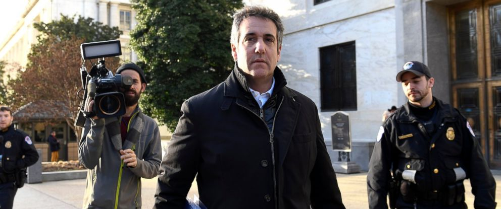PHOTO: Michael Cohen, President Donald Trumps former personal attorney, leaves Capitol Hill in Washington, Thursday, Feb. 21, 2019.