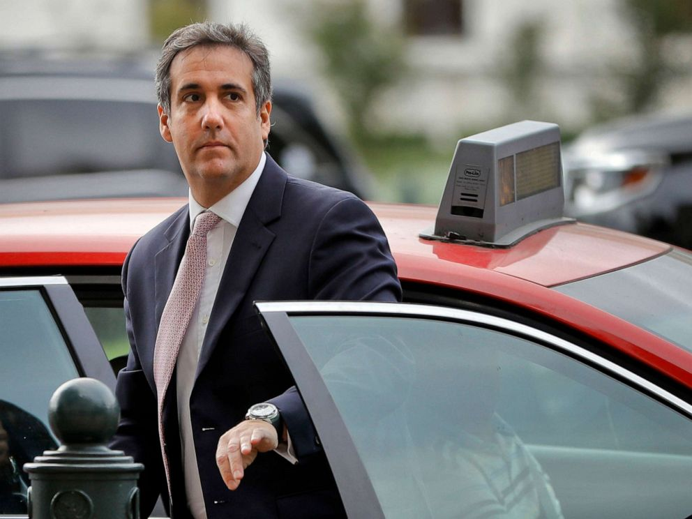 PHOTO: Michael Cohen, President Donald Trumps personal attorney, steps out of a cab on Capitol Hill in Washington, D.C., Sept. 19, 2017.