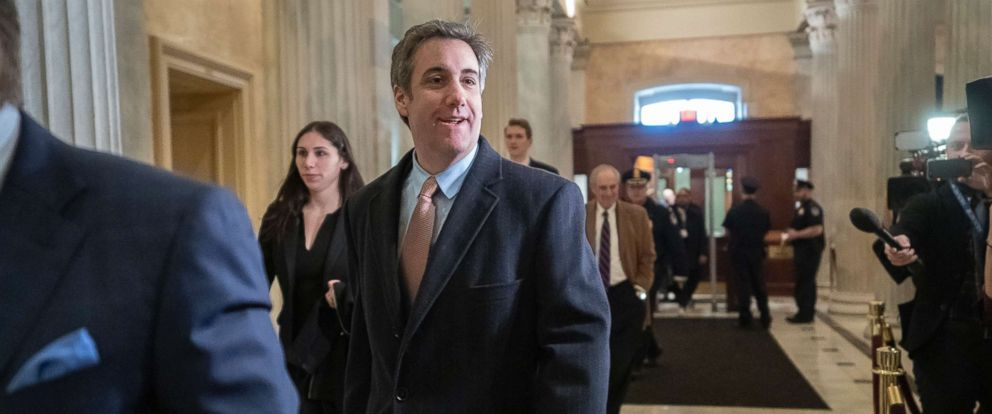 PHOTO: Michael Cohen, President Donald Trumps former lawyer, returns to Capitol Hill for a fourth day of testimony before the House Intelligence Committee, March 6, 2019, in Washington, D.C.