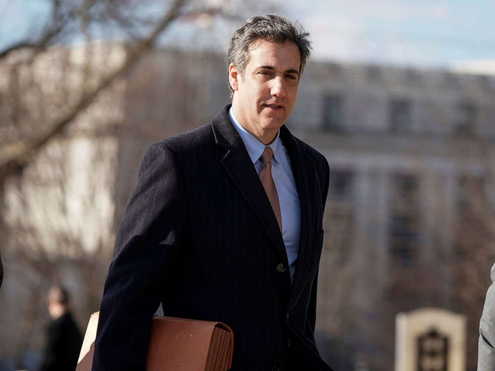 PHOTO: Michael Cohen, the former personal attorney of President Donald Trump, arrives to testify to the House Intelligence Committee on Capitol Hill in Washington, D.C., March 6, 2019.