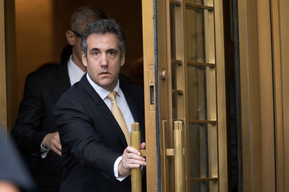 PHOTO: Michael Cohen leaves Federal court, in New York, Aug. 21, 2018.