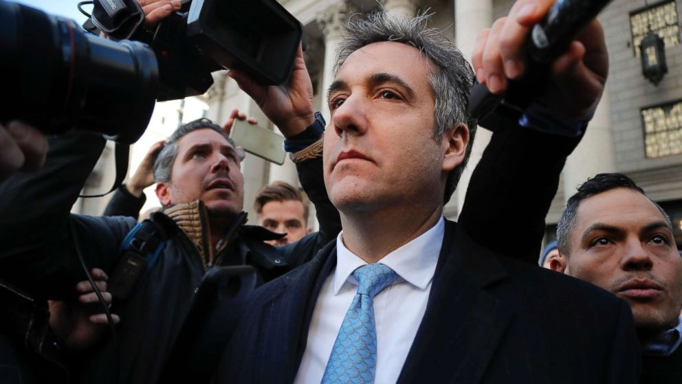 Michael Cohen walks out of federal court in New York, Nov. 29, 2018.