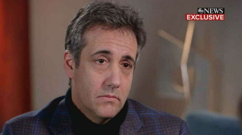 PHOTO: Michael Cohen sits down for an interview with ABC News Chief Anchor George Stephanopoulos on Good Morning America, Friday, Dec. 14, 2018.