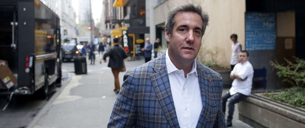 PHOTO: Michael Cohen walks to the Loews Regency hotel on Park Ave, April 13, 2018, in New York City