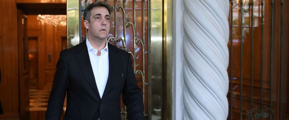 PHOTO: Michael Cohen, the former lawyer for President Donald Trump, leaves his Park Avenue apartment May 6, 2019 to begin serving a three-year prison sentence a federal prison in Otisville, N.Y.