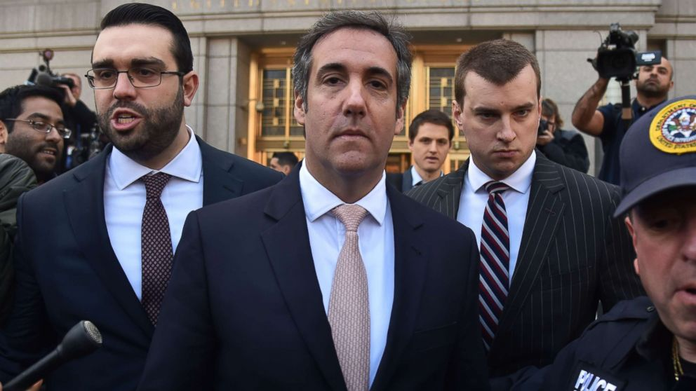 President Donald Trump's personal lawyer Michael Cohen leaves the federal courthouse in New York City, April 26, 2018.