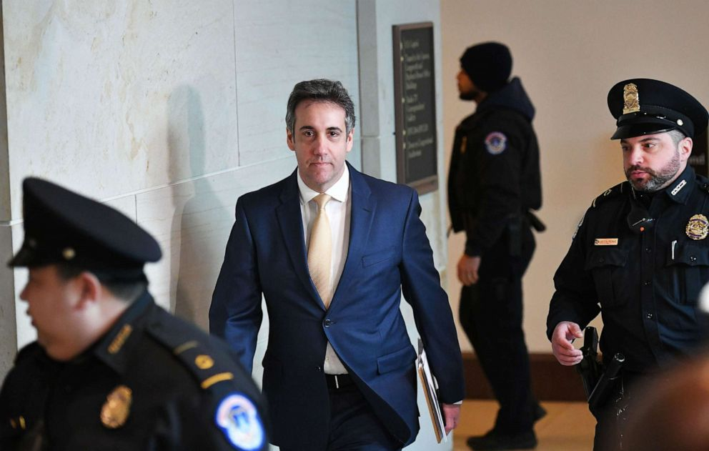 PHOTO: In this Feb. 28, 2019, file photo, Michael Cohen, President Donald Trump's former personal attorney, arrives for a closed hearing of the House Intelligence Committee at the Capitol in Washington, DC.