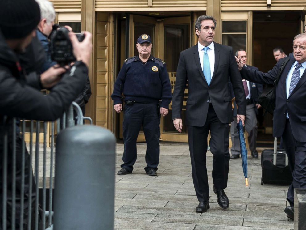 PHOTO: Michael Cohen, President Donald Trumps longtime personal lawyer, leaves federal court in New York, April 16, 2018.
