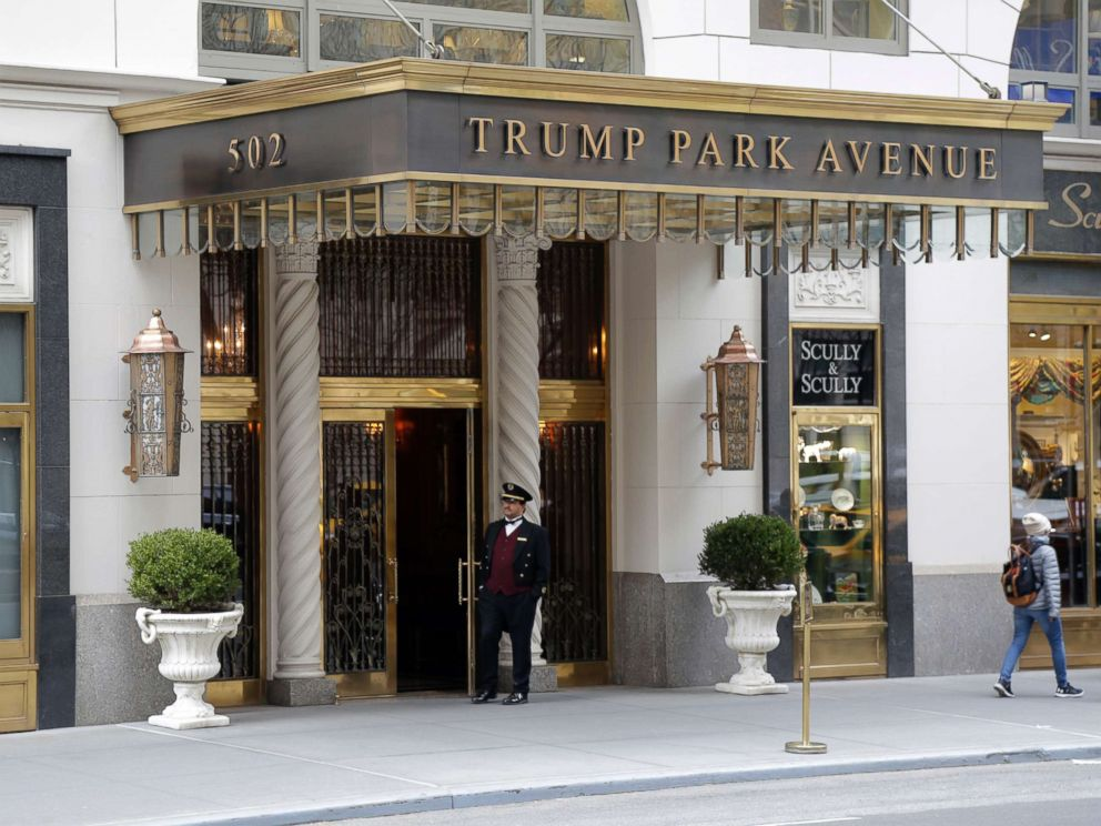 PHOTO: The front of the building where President Donald Trumps personal attorney Michael Cohen lives in New York on Monday, April 9, 2018.