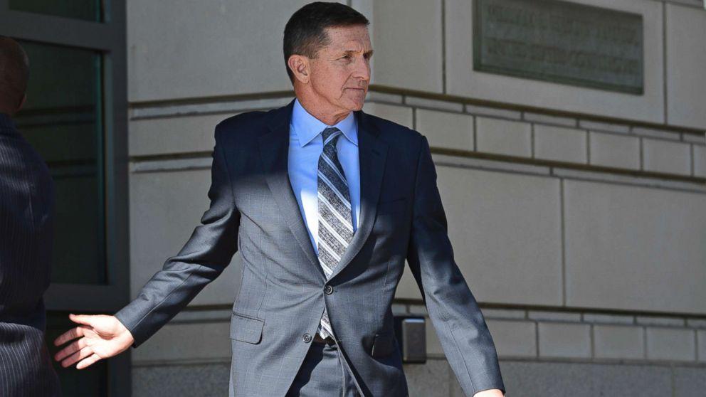 Former Trump national security adviser Michael Flynn leaves federal court in Washington, Friday, Dec. 1, 2017.