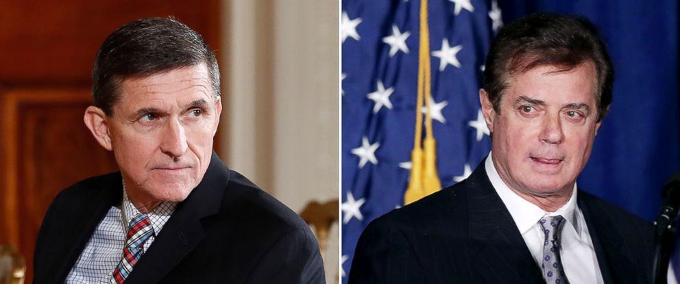 PHOTO: MIchael Flynn, left, and Paul Manafort.