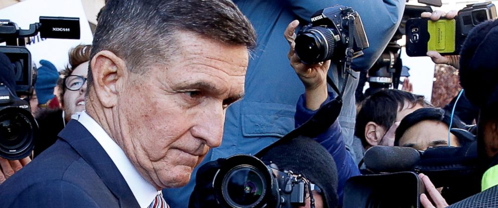 PHOTO: Former U.S. national security adviser Michael Flynn passes by members of the media as he departs after his sentencing was delayed at U.S. District Court in Washington, Dec. 18, 2018.