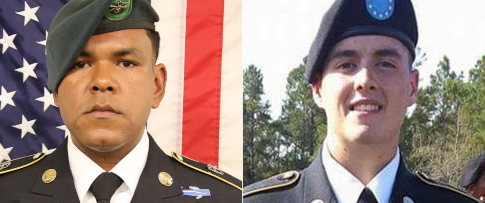 PHOTO: Master Sgt. Michael Riley and Sgt. James Johnston were killed in action in Afghanistan on June 25, 2019.