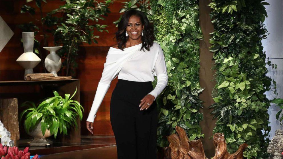 "Michelle Obama appears on the Feb. 1, 2018, episode of ""The Ellen DeGeneres Show"" in Burbank, Calif."