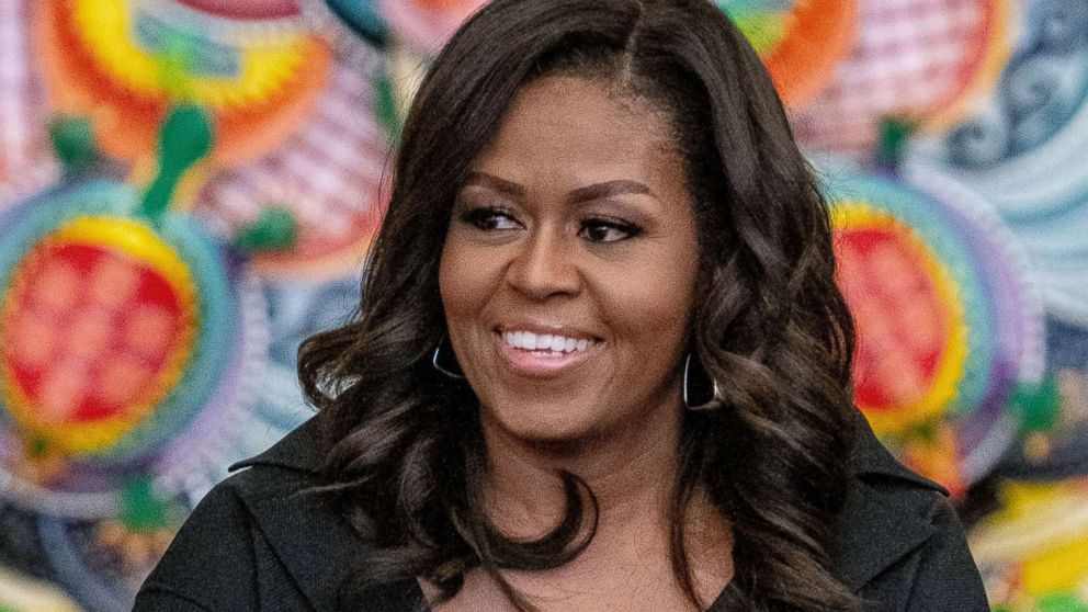 "Former first lady Michelle Obama visits The Lower Eastside Girls Club to discuss her new book ""Becoming"" on Dec. 1, 2018 in New York City."