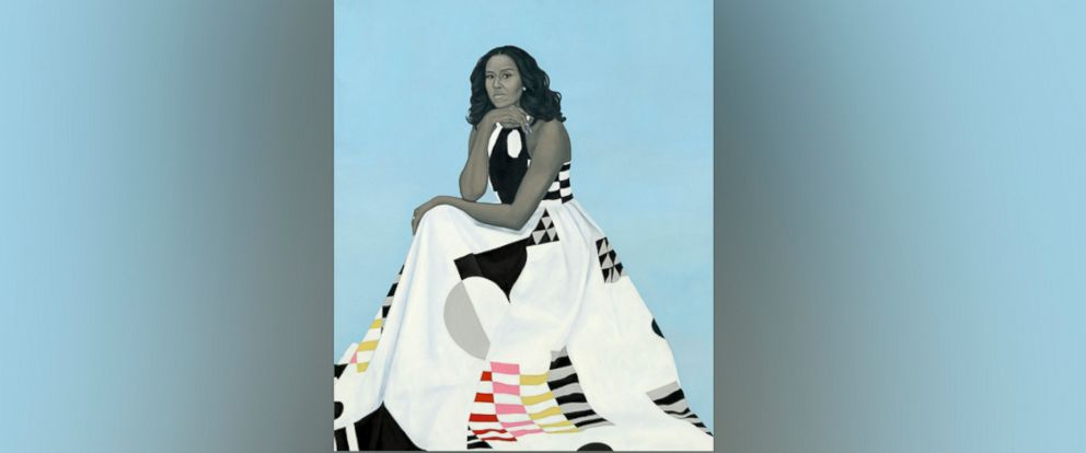 PHOTO: This image provided by the National Portrait Gallery, Smithsonian Institution is of the official portrait of former first lady Michelle Obama by artist Amy Sherald, released Feb. 12, 2018, in Washington D.C.