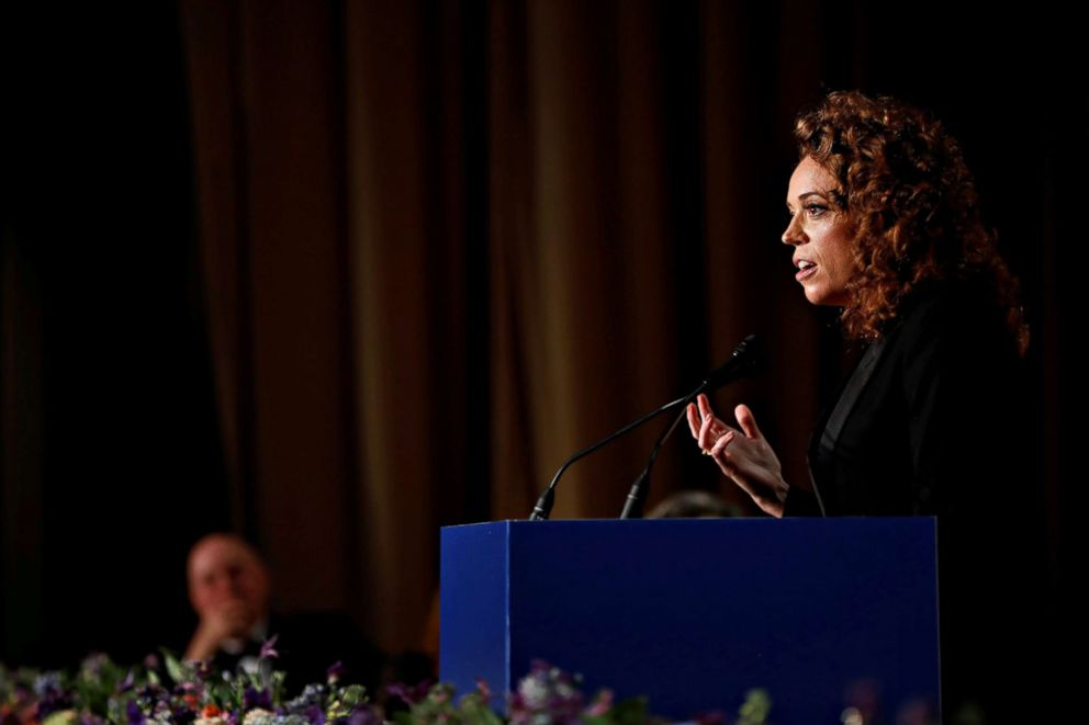 PHOTO: Comedian Michelle Wolf performs at the White House Correspondents Association Dinner in Washington, April 28, 2018.