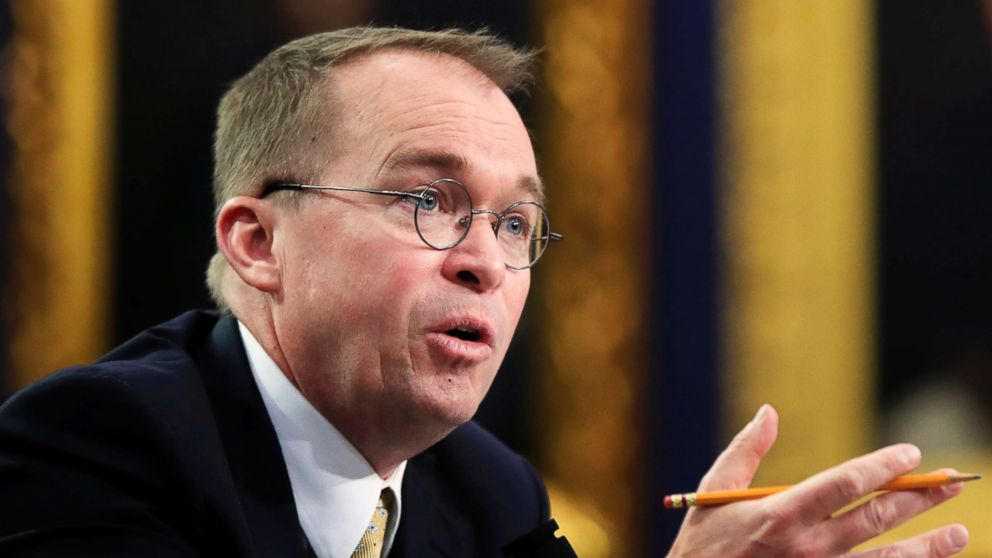 Office of Management and Budget Director Mick Mulvaney testifies before a House Appropriations Committee hearing on Capitol Hill in Washington, D.C., on April 18, 2018.