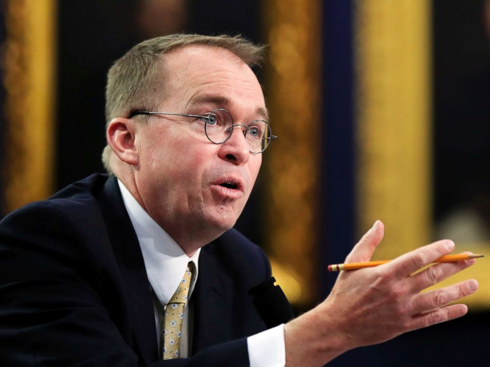 PHOTO: Office of Management and Budget Director Mick Mulvaney testifies before a House Appropriations Committee hearing on Capitol Hill in Washington, D.C., on April 18, 2018.