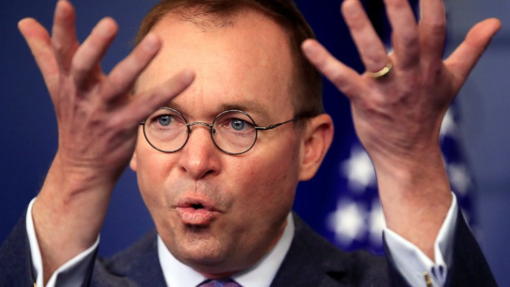 In this March 22, 2018, file photo, Office of Management and Budget Director Mick Mulvaney speaks in the Brady press briefing room at the White House in Washington. President Donald Trump has named Mulvaney as his new chief of staff.