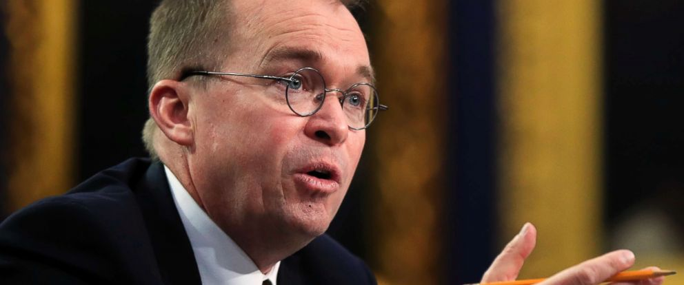 PHOTO: Office of Management and Budget Director Mick Mulvaney testifies before a House Appropriations Committee hearing on Capitol Hill in Washington, April 18, 2018.
