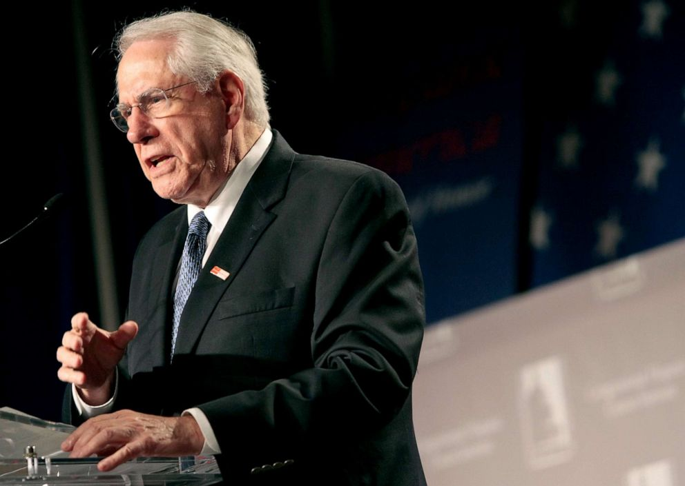 PHOTO: Former Sen. Mike Gravel speaks during a presidential candidates forum of the Congressional Hispanic Caucus Institute (CHCI) 2007 Public Policy Conference, Oct. 3, 2007, in Washington, DC.
