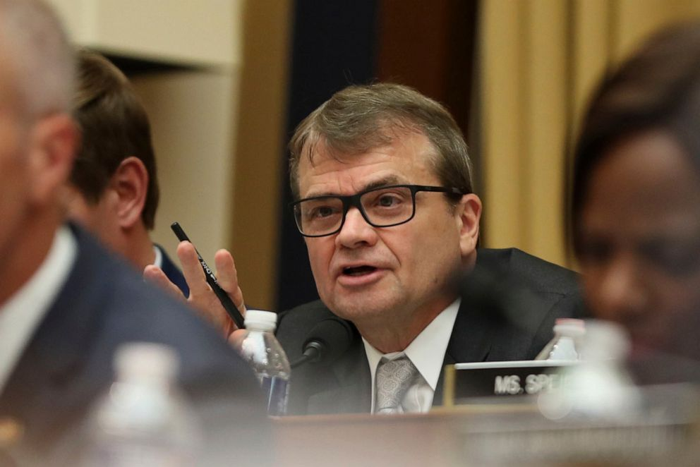 PHOTO: Rep. Mike Quigley questions former special counsel Robert Mueller, as he testifies before the House Intelligence Committee hearing on his report on Russian election interference, on Capitol Hill, in Washington, D.C., July 24, 2019.