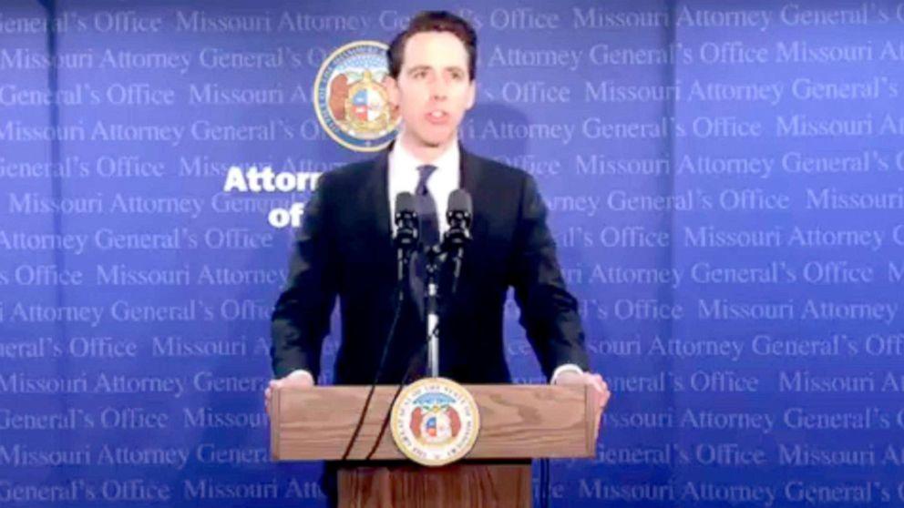 Missouri Attorney General Josh Hawley speaks at a press conference, April 17, 2018, in Jefferson City, Mo.