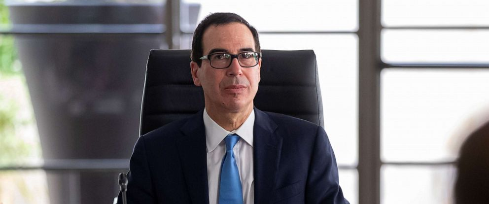 PHOTO: Treasury Secretary Steven Mnuchin attends a working session during the G7 finance ministers and central bank governors meeting in Chantilly, near Paris, France, July 17, 2019.