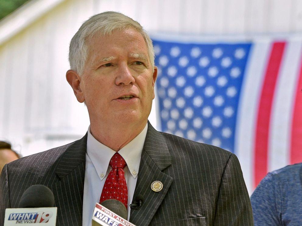 PHOTO: Alabama Congressman Mo Brooks announces his candidacy for the U.S. Senate in Huntsville, Ala., May 15, 2017.