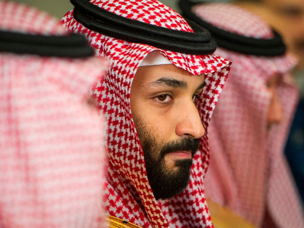 Mohammed bin Salman center meets with Defense Secretary Jim Mattis not